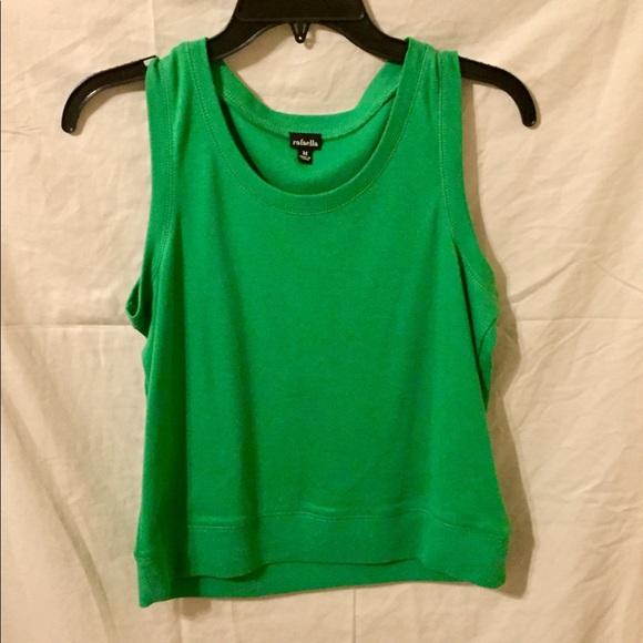 Rafaella Tops - Emerald Sleeveless Sweater Blouse.